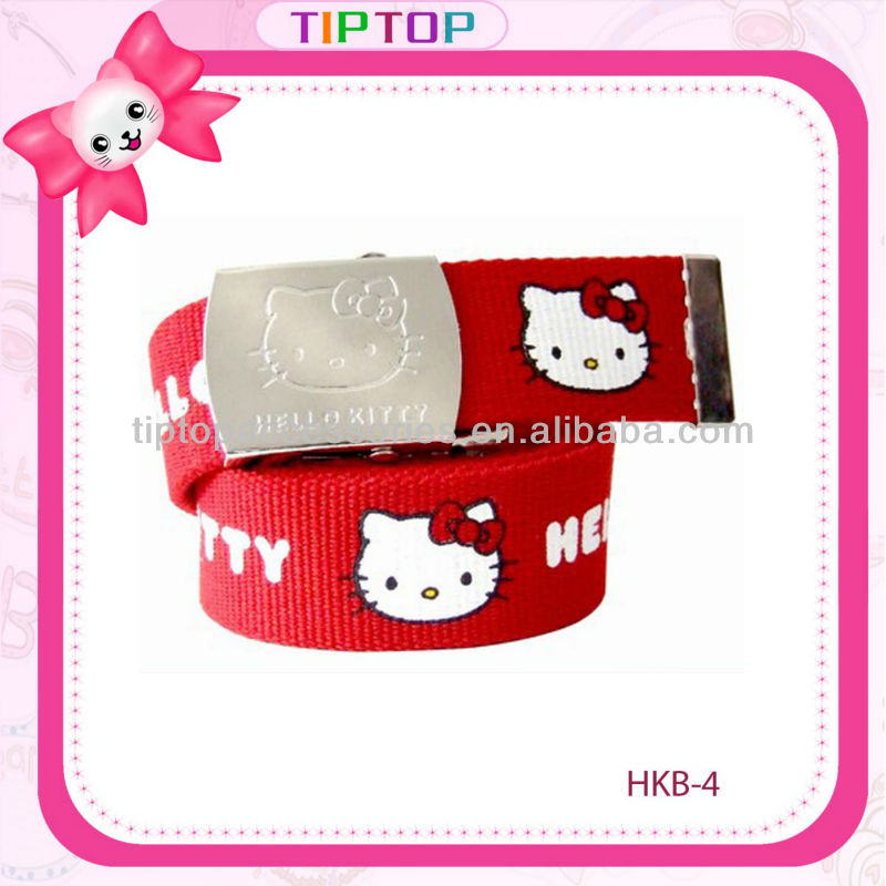 Christmas gifts wholesale hello kitty printing woven ribbon belt