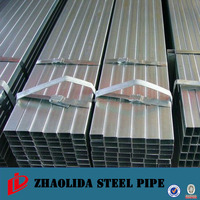 factory galvanized gal ERW square rectangular steel pipe Galvanized Square Rectangular Steel Pipe Q235 Q345 Q195