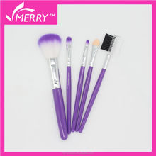 Five pieces makeup tools with PVC pouch