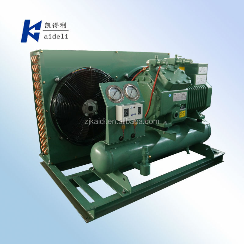 5HP Air cooled compressor condensing unit with BITZER Semi-hermetic piston compressor for cold room use