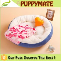 Wholesale round solid pet bed round dog bed