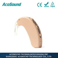 China manufacture sound amplifier AcoSound 410 BTE- Plus hearing shell