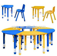 2015 modern design nursery school furniture,/Adjustable height children desk and chair/Kids study table and desk.