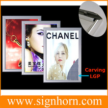 advertising product aluminum frame slim led poster light box