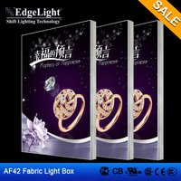 Edgelight AF42 diy advertising led light box , textile/fabric frameless led light box , CE/ROHS/UL LED display