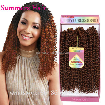 10inch Curly Crochet Hair Ombre Synthetic Kinky Curly Crochet Hair