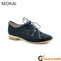 MK031-10-Black suede leather shoes in china wholsale casual ladies fancy footwear 2015