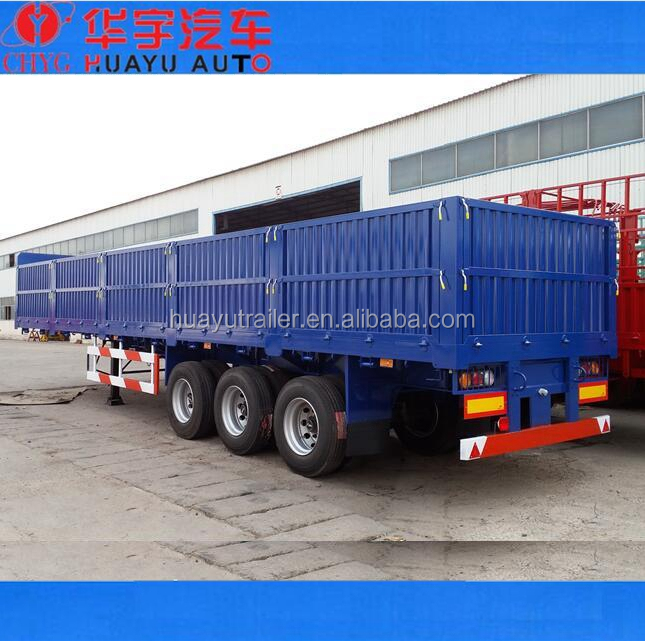 germany bogie suspension semi trailer with sideboard for sale