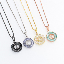 wholesale jewelry alphabet letter round pendant necklace