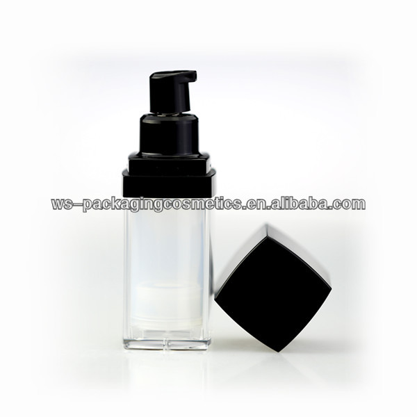 Square Package Cosmetic 35ML Bottle Airless