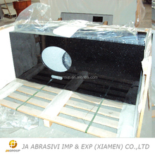 High quality black galaxy granite vanity top countertop in China
