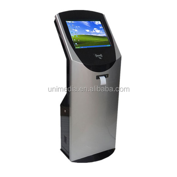 Smart 22 inch queue system ticket dispenser kiosk touch screen self service kiosk