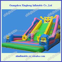 spongebob inflatable slide /giant inflatable slide/giant inflatable water slide for adult