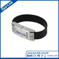 Metal bracket bracelet usb wristband usb flash memory stick leather