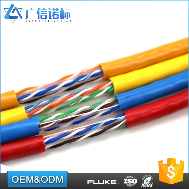 Unshielded twisted pair 4p 23AWG BC or CCA Conductor utp cat 6 lan network cable