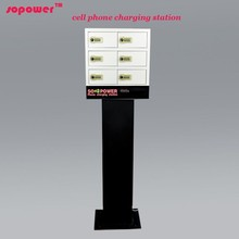 2015 new arrival smart locker phone charging station hand crank battery charger