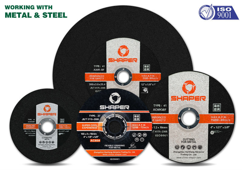 Despressed cutting wheel and grinding disc
