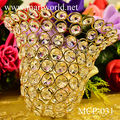 Elegant hat shape centerpiece crystal for wedding table centerpieces decoration (MCP-031)