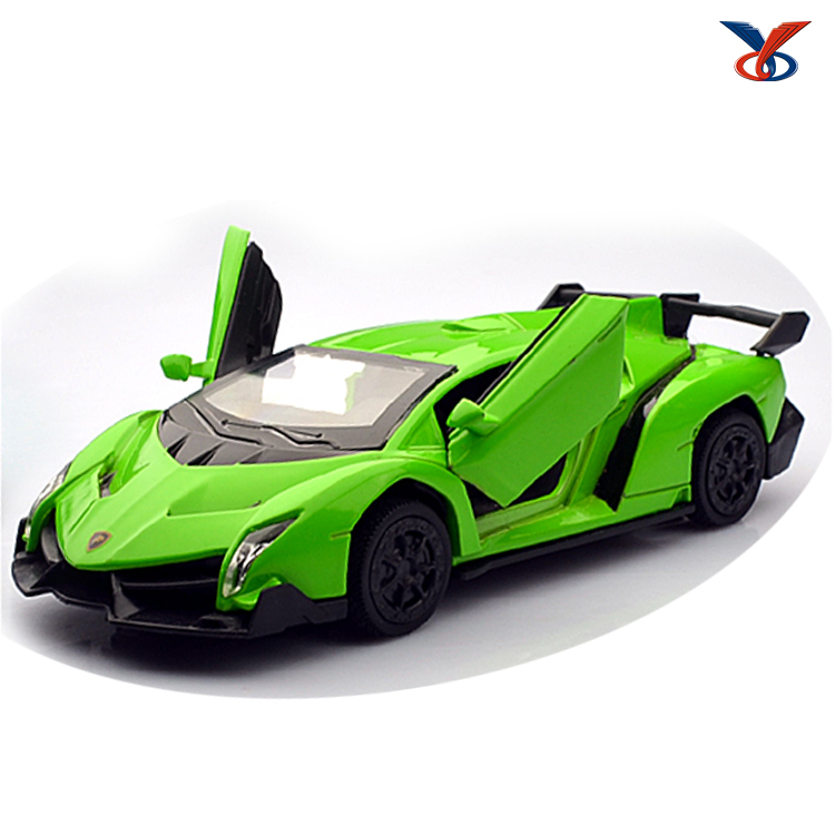 pull back alloy toy diecast model car with sound effect and light