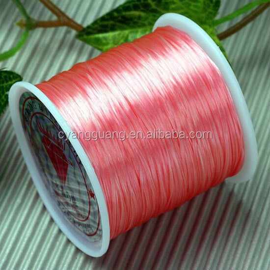 Pink silicone cord or elastic rubber cord