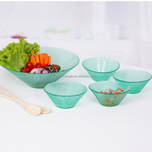 colored 7pcs glass footed bowl set