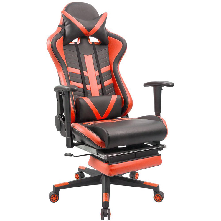 Large Size Ergonomic Leather Swivel Executive Office Racing Chair For Computer Gaming High-back