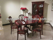 D158-46B poplar dining table and chair