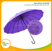 27inch 24 ribs purple buy bulk printing rain umbrellas for sale