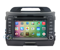 "OEM A9 Quad core Pure Android 5.1.1 HD 1024*600 16GB Mirror-Link 8"" Car DVD Player GPS Stereo Radio For K ia SPORTAGE"