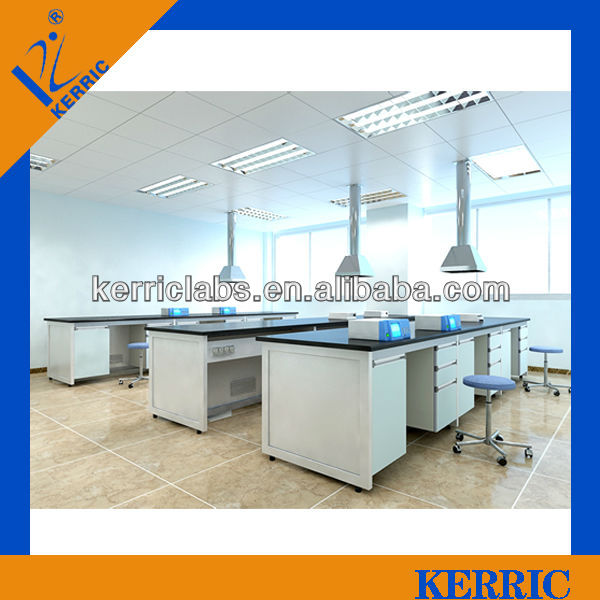 chemistry H-frame steel wood epoxy resin board laboratory bench for school and hospital
