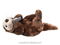 "Sea Otter Stuffed Animal Plush Toy 24"" Length/Soft Squeezable Quality Toy Lying Otter /Nice Realistic Toy Sea Otter"