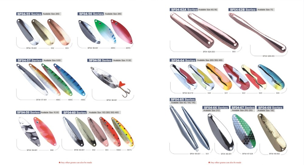 Many kinds of excellent quality spoon fishing lure making supplies