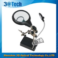 DH-86010 3 lens soldering stand led light magnifier glass