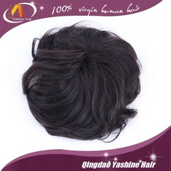 Tot selling remy human hair piece toupee for black men, invisible knot very natural hair line toupee