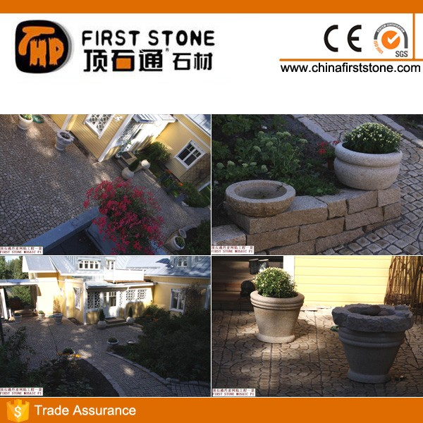 HZY-115 Golden Peach Granite Paving Stone