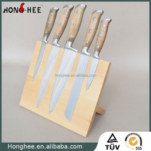 Acacia Block Essential Knife Set, Wholesale Price Knives Type Kitchen Knife