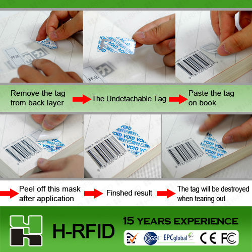 garment trackng management rfid UHF paper tags on a roll printable