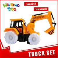 children electronic toy car construction vehicle toy set