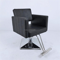 Simple salon hair styling chair barber shop furniture with foot rest