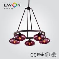 modern decorative colored glass chandelier