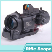 DR Specter 4X FIXED DUAL ROLE SCOPE RED GREEN DOT 20mm SIGHT HT6-0005BK