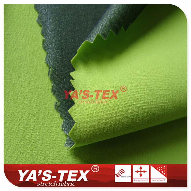 Three layers of composite fabric, 70D nylon four way stretch composite Elegant yarn, ultra thin softshell jacket