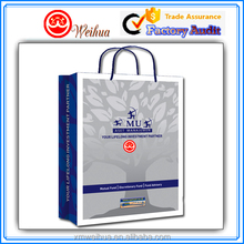 Luxury Custom printable fancy design craft paper shopping bag with rope handle