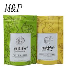 Chinese supplier wholesales honey &sesame nutify stand up ziplock food pouch bag