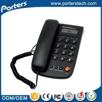 China Goods Wholesale number dialing telephone handset,stationary phone,corded ID phone