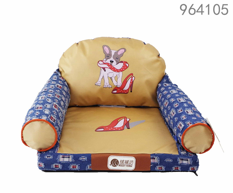 High quality and warm cute pet cat dog sofa of rosey form