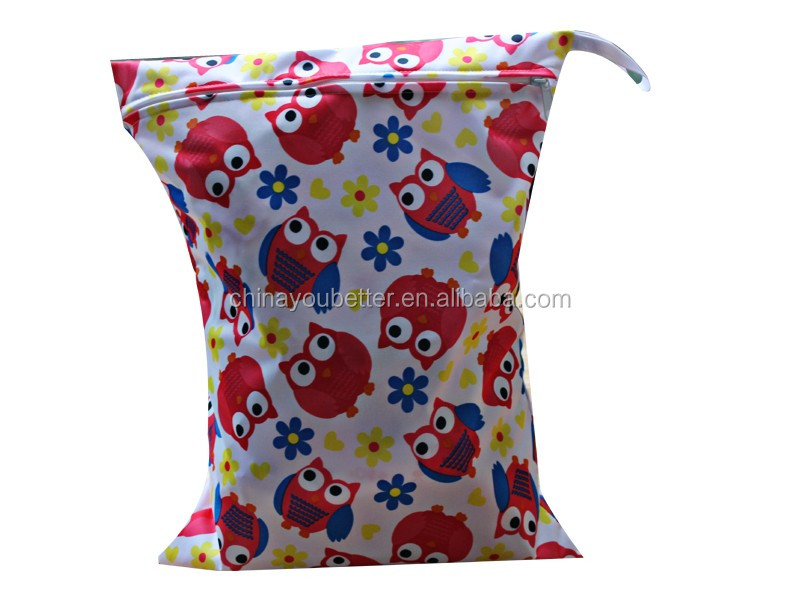 Cloth Diaper Bag Baby Wet Bag Waterproof Monther Wet Nappy Bag