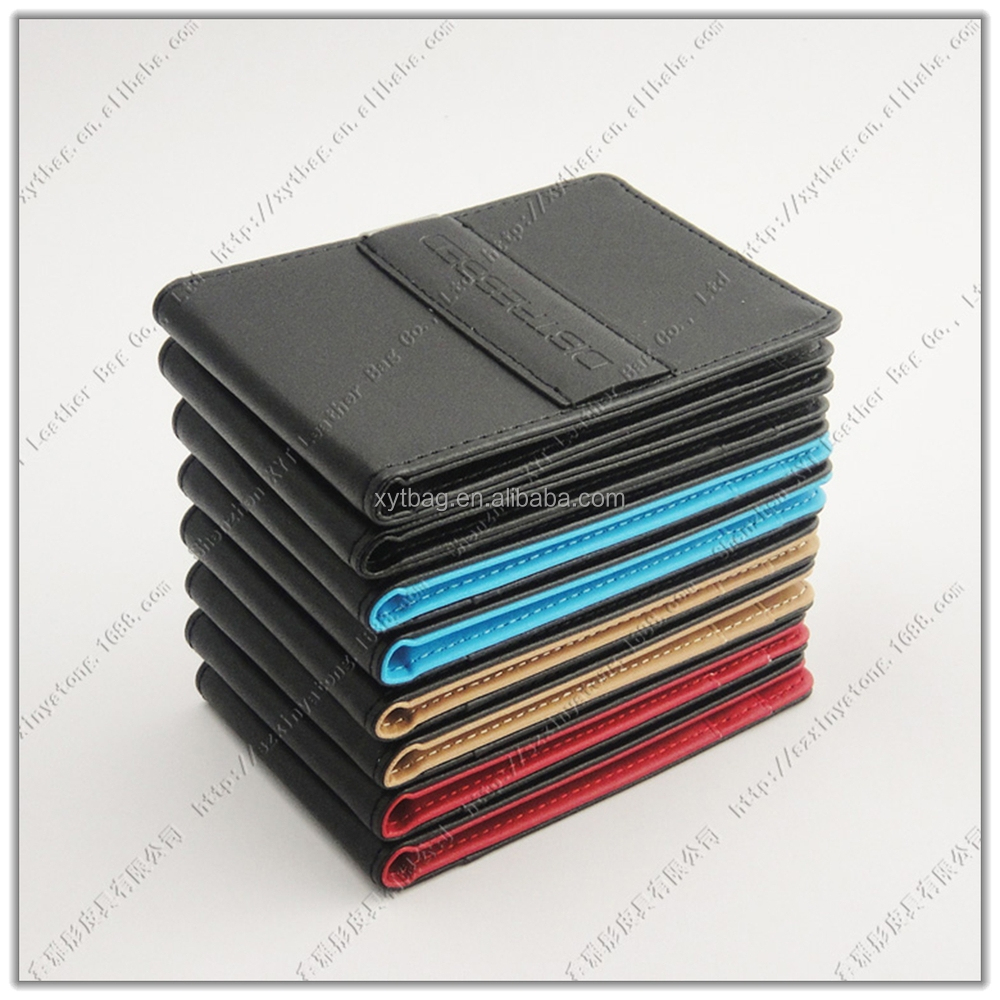 Fashion South Korean Billfold Simple Style Money Clip PU Leather Wallet