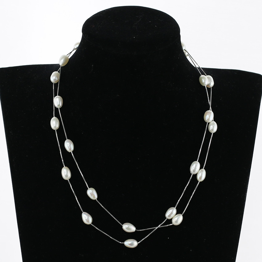 cultured genuine oval rice tear drop fashion pearl jewelry long natural fresh water freshwater real pearl necklace price