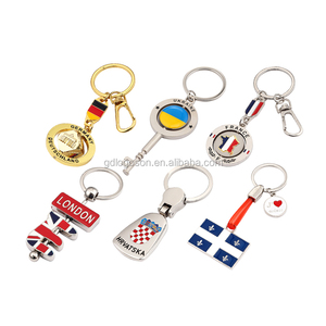 Zhongshan Factory High Quality Keychain Souvenirs Custom Your Own Country Flag Keychain